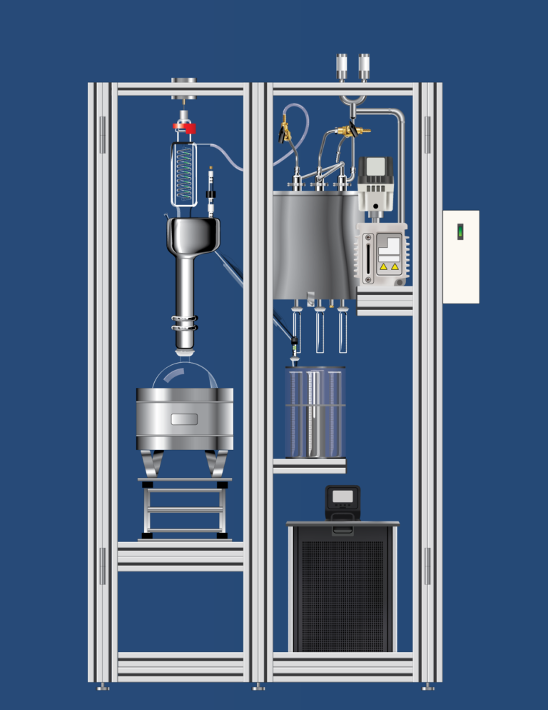 In Place Cleaning of a Cannabis Distillation System