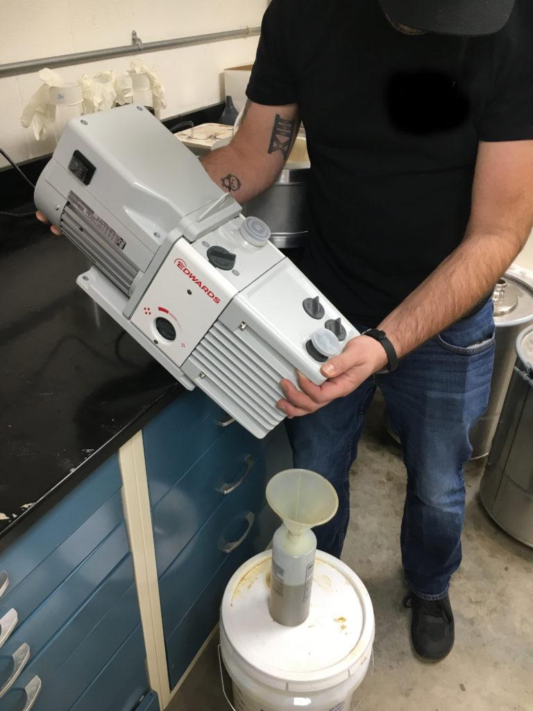 Draining Vacuum Pump